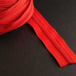 Red nylon zipper coil by...