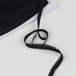 Elastic with lace - Black
