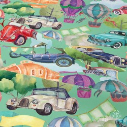 Cars and baloons
