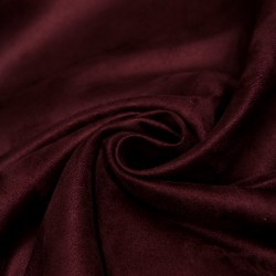 Polyester suede - Red wine