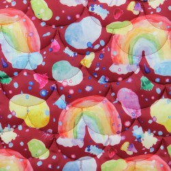 Quilted outerwear fabric -...